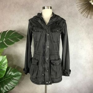 Talula Aritzia Utility Hooded Trooper Jacket